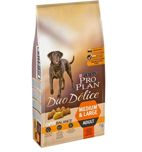 Hundfoder Pro Plan Duo Délice Adult Beef Rice